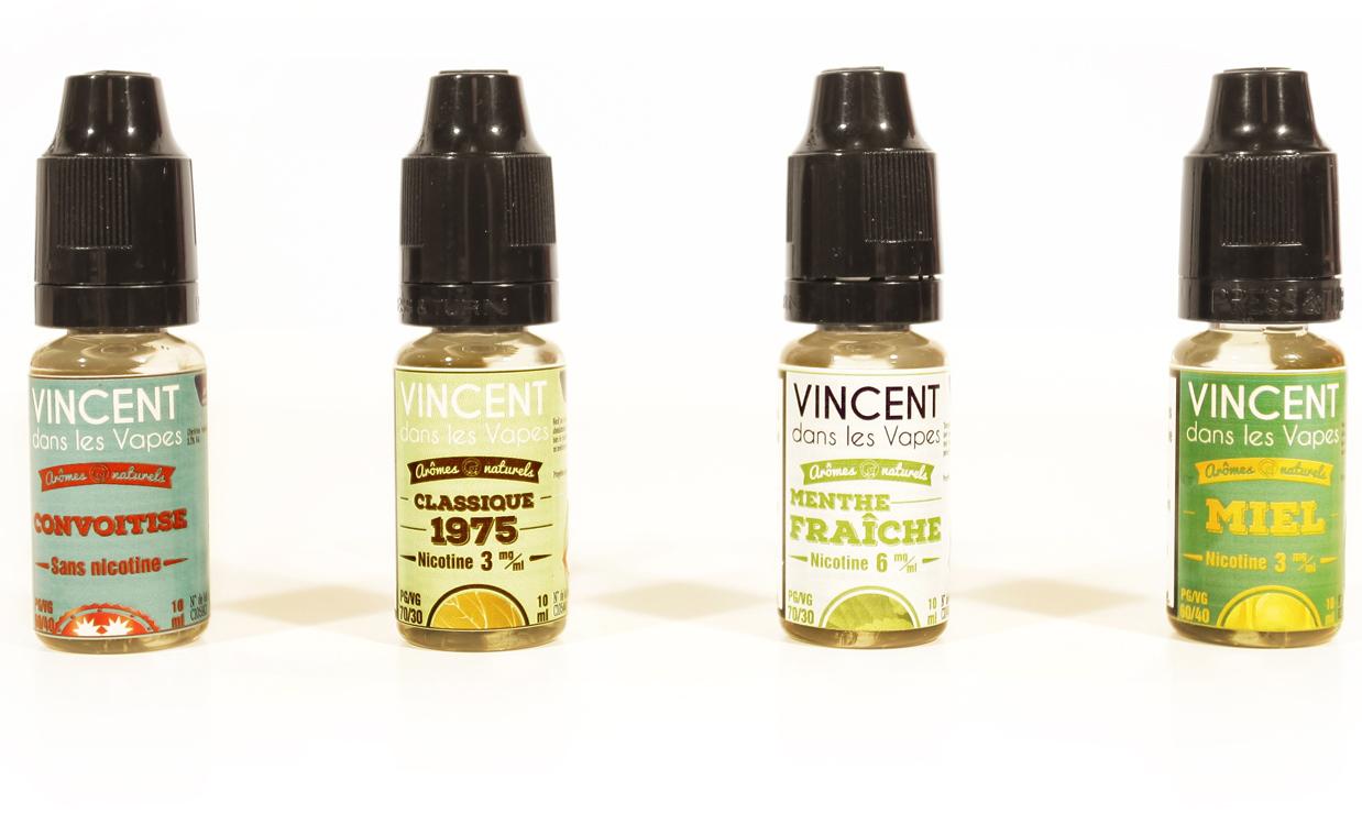 Les Incontournables est une gamme de e-liquide de la marque Vincent dans les vapes