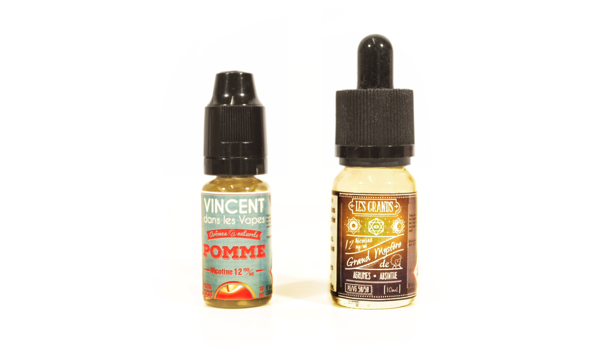 Les Grands est une gamme de e-liquide de la marque Vincent dans les vapes